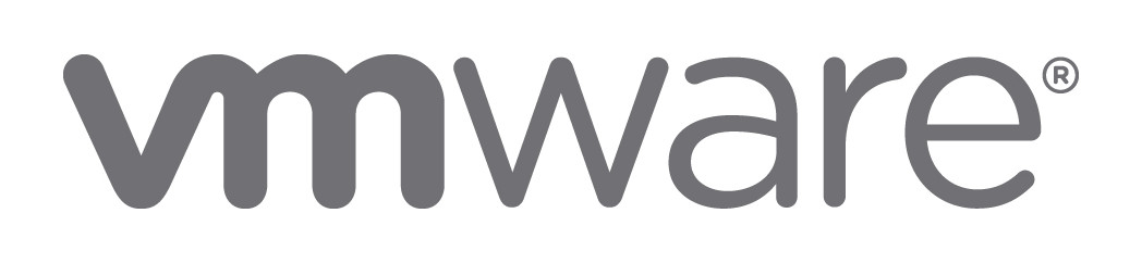Image of a logo with first two letters in bold gray rounded font and the rest narrow gray rounded font reading VMware