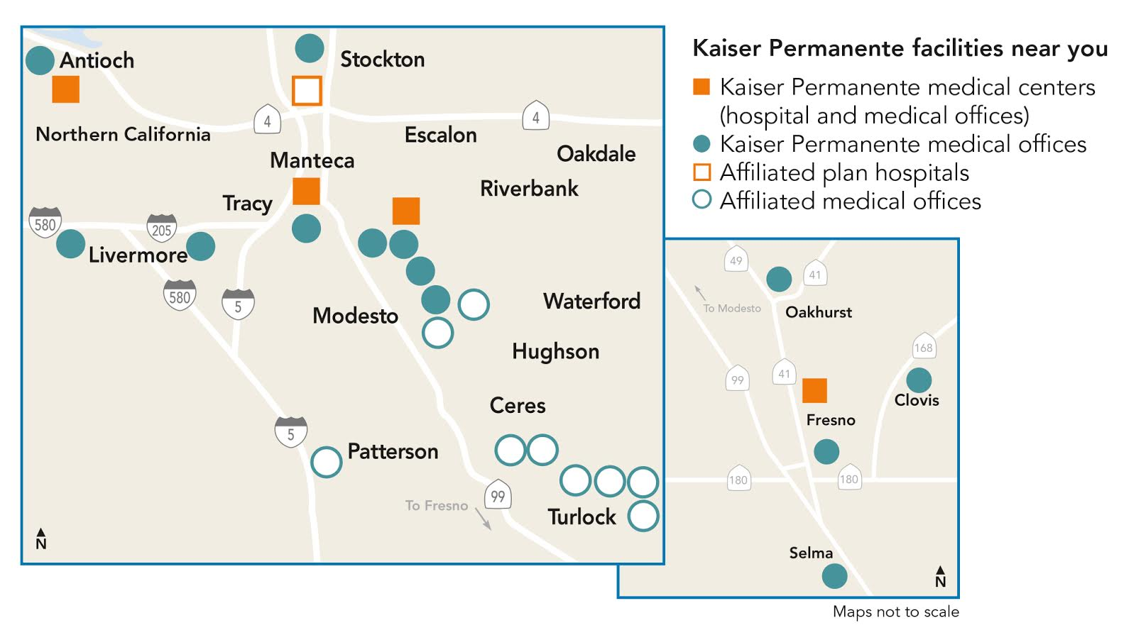 Kaiser Locations California Map.Kaiser Permanente Uc Merced University Of California