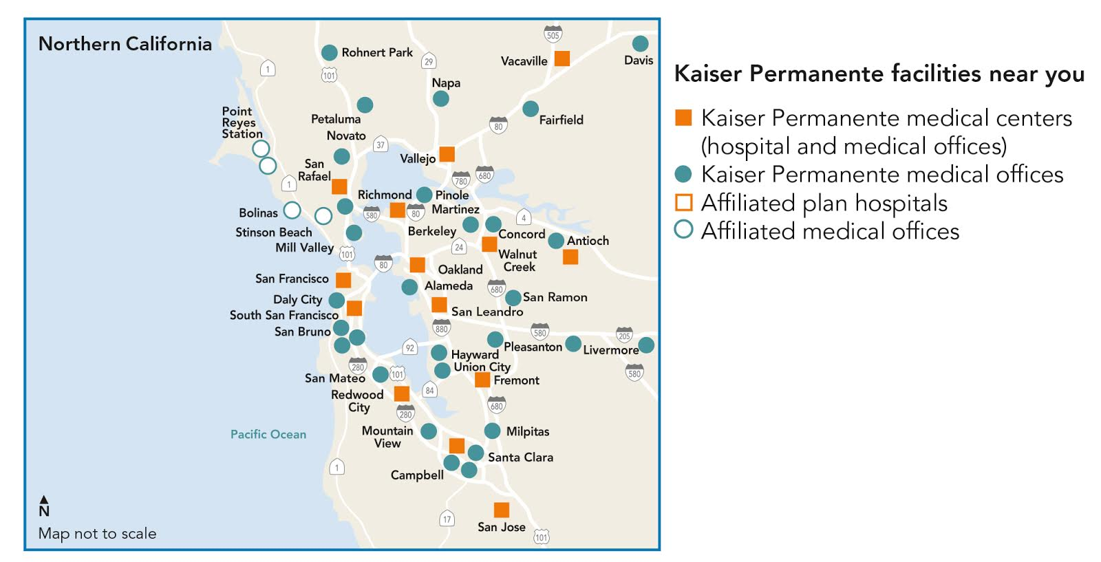 Kaiser Locations California Map.Kaiser Permanente Uc San Francisco University Of California