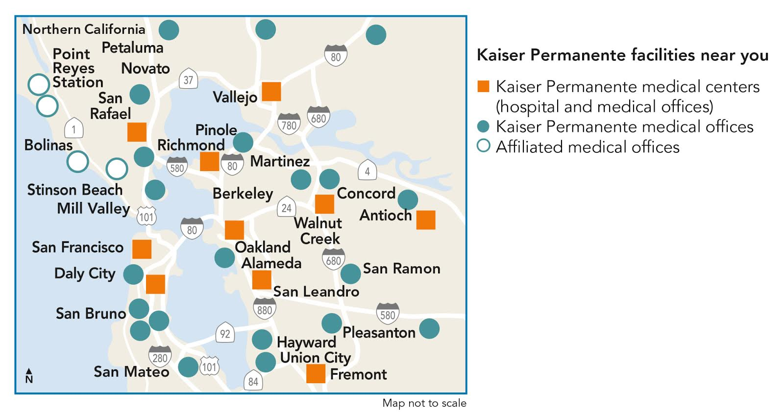 Kaiser Locations California Map.Kaiser Permanente Ucop University Of California